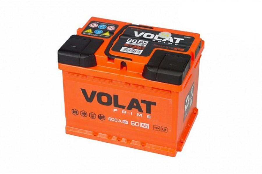 Аккумулятор VOLAT Prime 60 A/h 600A L+