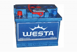 Аккумулятор Westa 45  A/h 390A  (EN) ОТ 1-го ПОСТАВЩИКА