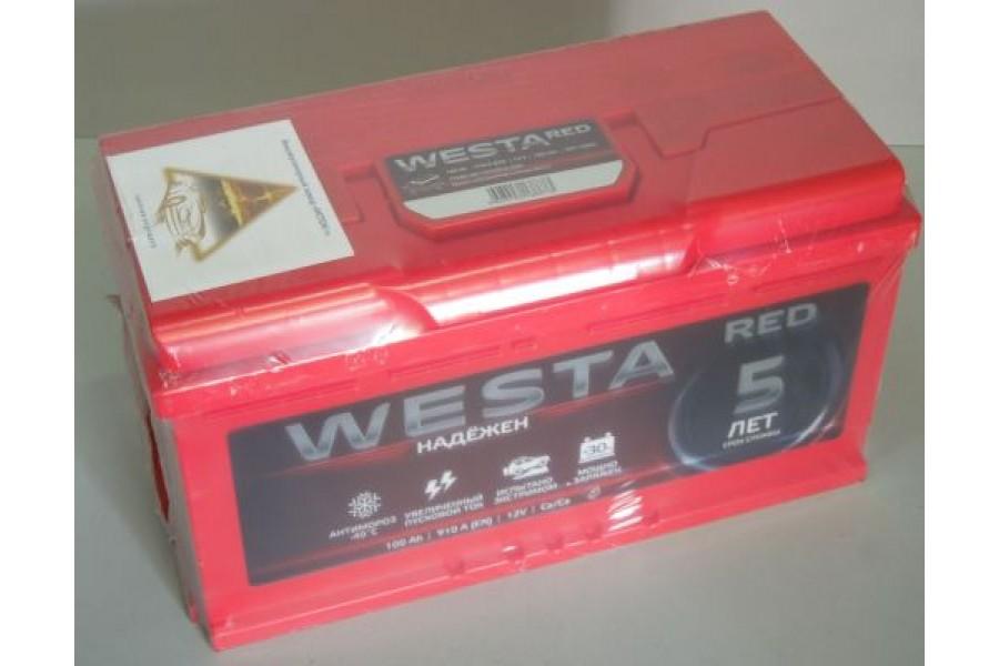 Аккумулятор Westa RED 100  A/h, 910А (6СТ-100) ОТ 1-го ПОСТАВЩИКА
