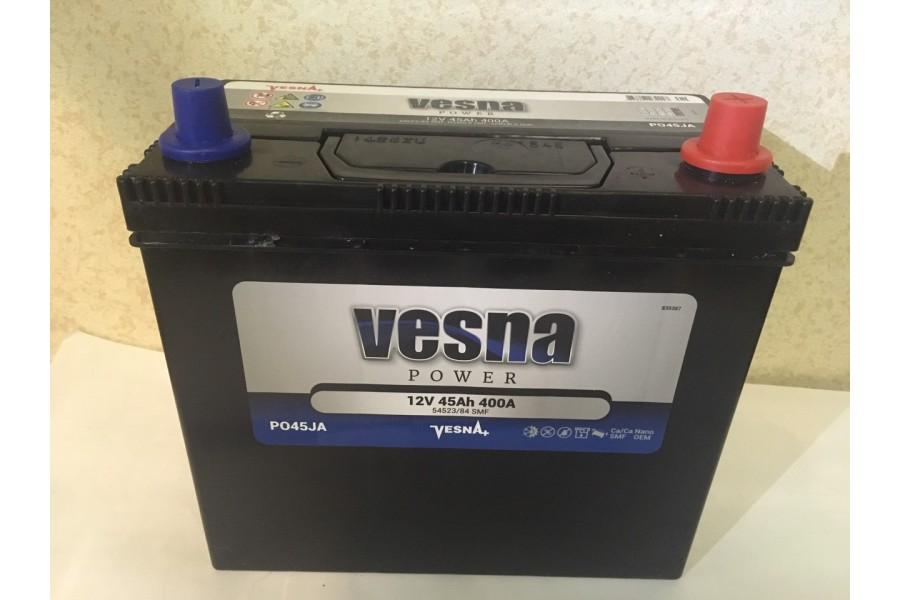 Аккумулятор VESNA Asia 45  A/h 400A e/n