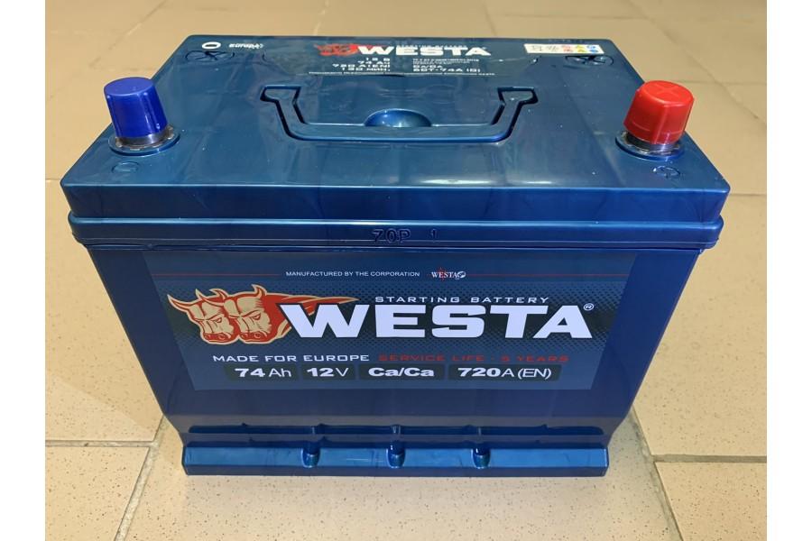 Аккумулятор Westa Asia 74 A/h 720A  (EN) ОТ 1-го ПОСТАВЩИКА