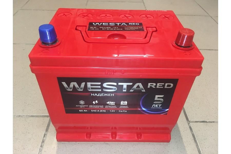 Аккумулятор Westa RED Asia 60  A/h ОТ 1-го ПОСТАВЩИКА