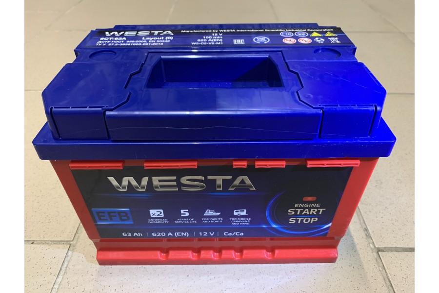 Аккумулятор Westa RED EFB 63 A/h 620A