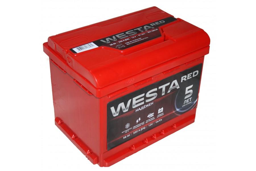 Аккумулятор Westa RED 56  A/h 550A ОТ 1-го ПОСТАВЩИКА