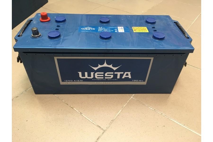 Аккумулятор Westa 190  A/h 1250 (EN) ОТ 1-го ПОСТАВЩИКА