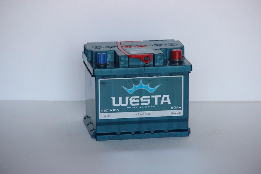 Аккумулятор Westa 50  A/h 480A  (EN) ОТ 1-го ПОСТАВЩИКА