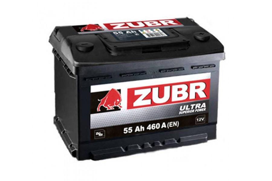 Аккумулятор Зубр Ultra 55 A/h 530A (EN)