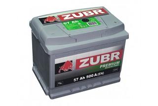 Аккумулятор Зубр Premium 57  A/h  500A