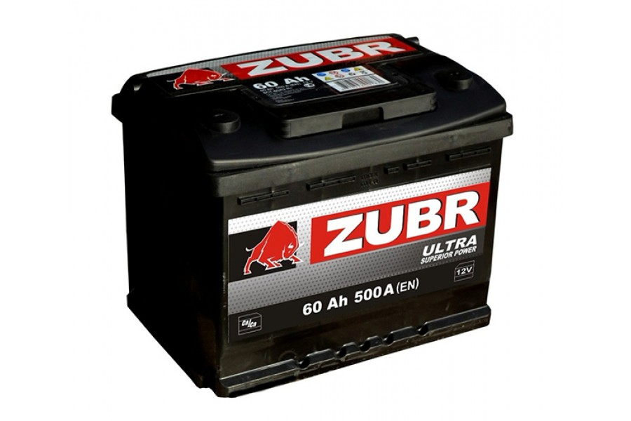 Аккумулятор Зубр Ultra 60 A/h 600A (EN)