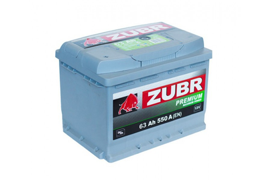 Аккумулятор Зубр Premium 63  A/h  640A