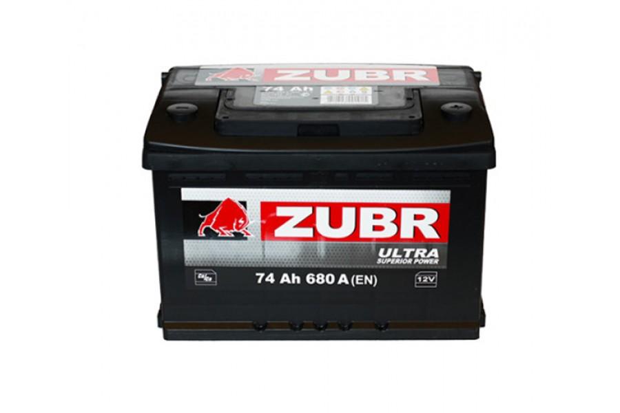 Аккумулятор Zubr Ulta 74  A/h 710А R+ низкий