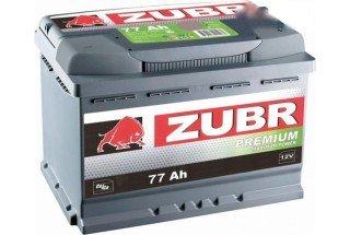 Аккумулятор Zubr Premium 77  A/h 730А R+ низкий