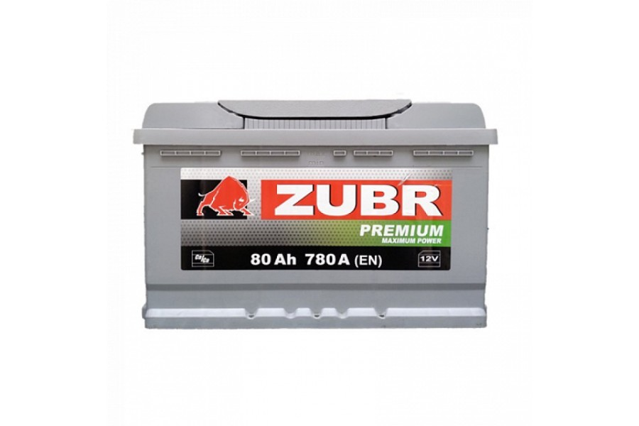 Аккумулятор Zubr Premium 80  A/h 780А R+