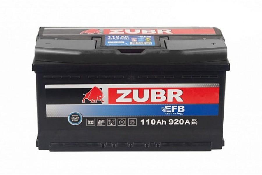 Аккумулятор Zubr EFB 110 A/h 920А R+