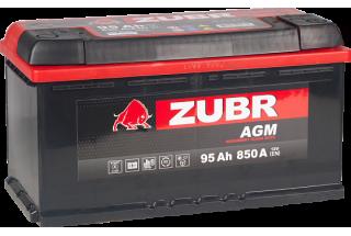 Аккумулятор Zubr AGM 95A/h 850A R+
