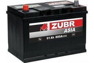 Аккумулятор Zubr Ultra ASIA 91A/h 800А L+
