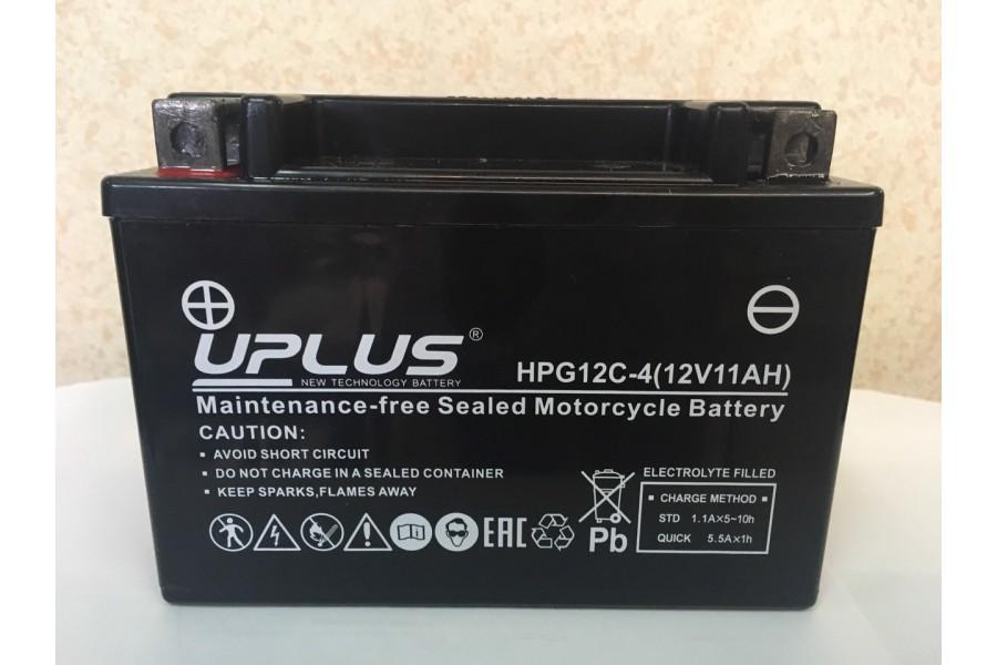 Аккумулятор UPLUS Super Star GEL HPG 12C-4 (YTX12S/YTZ 14S-BS 509901) 12V 11  A/h