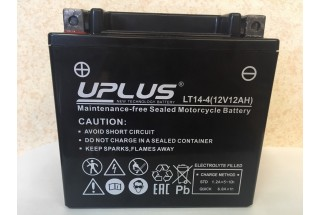 Аккумулятор UPLUS Super Star LT14-4 (YTX 14-BS 512014) ( 12 V 12 Ah L+)