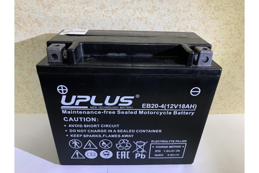 Аккумулятор UPLUS Super Star EB20-4 (18Ah) L+
