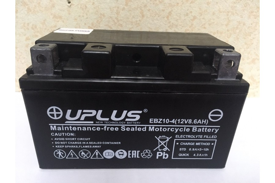 Аккумулятор Uplus super star EBZ10-4 YTZ10s (8.6 ah) L+ 270A