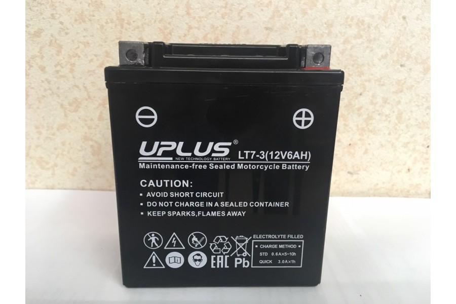 Аккумулятор UPLUS Super Start LT7-3 (YTX 7L- BS 506014) 6  A/h R+