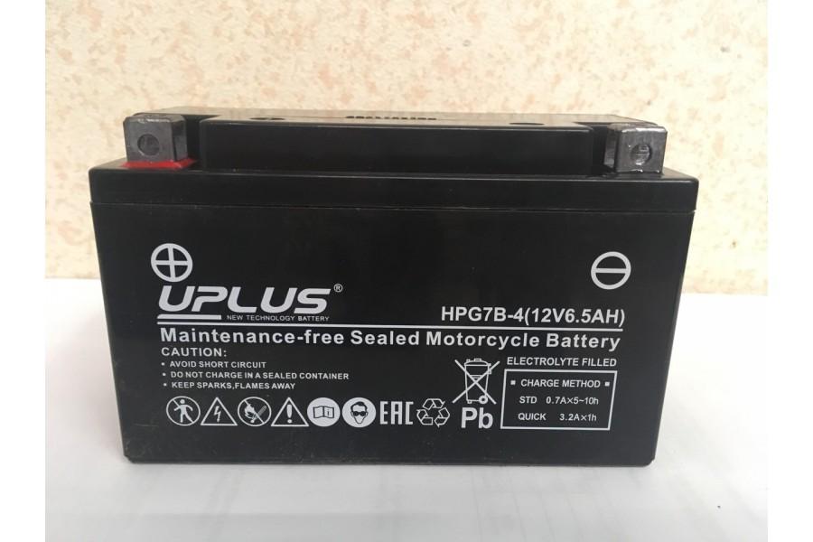 Аккумулятор UPLUS Nano Gel HPG7B-4 (YT 7B- BS 507901) 6.5  A/h L+