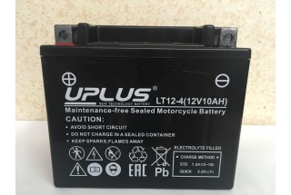 Аккумулятор UPLUS Super Start LT12-4 YTX 12- BS 510012) 12  A/h L+