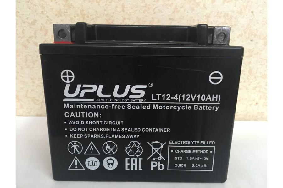 Аккумулятор UPLUS Super Start LT12-4 YTX 12- BS 510012) 12 A/h L+