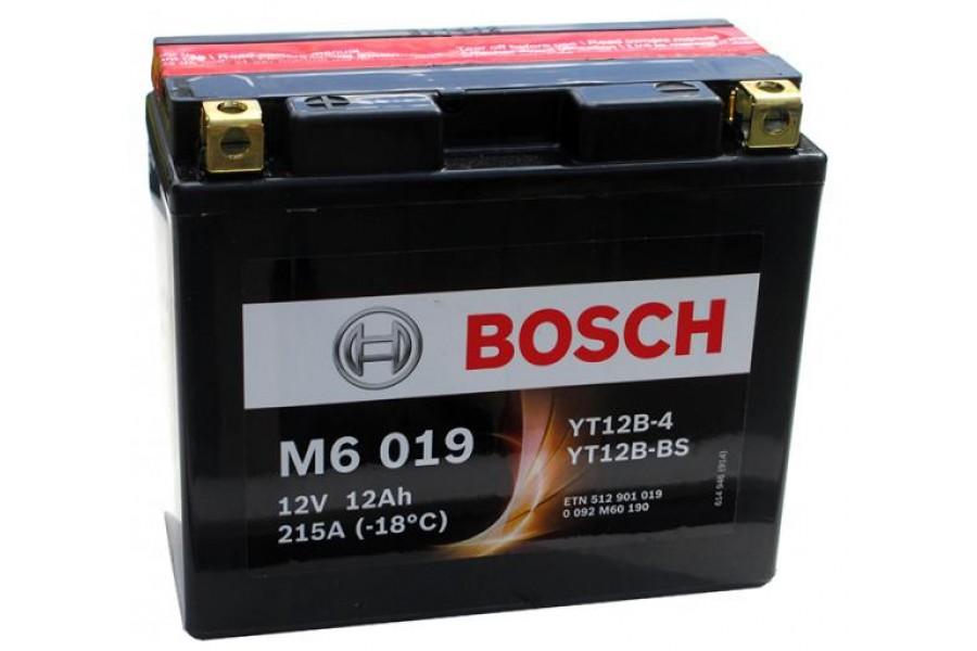 Аккумулятор Bosch M6 019 512 901 019 (12 A/H), 215A , YT12B-BS / YT12B-4