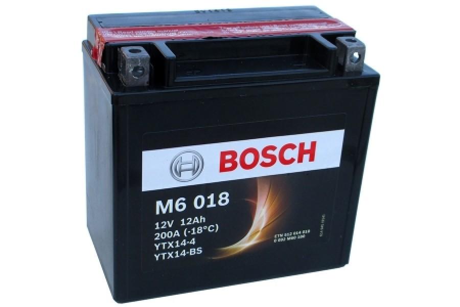 Аккумулятор Bosch M6 018 512 014 010 (12 A/H), 200A, YTX14-BS / YTX14-4