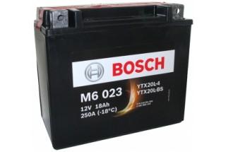 Аккумулятор Bosch M6 023 518 901 026 (18 A/H), 250A, YTX20L-BS / YTX20L-4