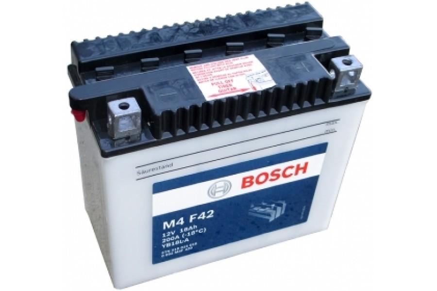 Аккумулятор Bosch M4 F42 518 015 018 (18 A/H), 200A R+, YB18L-A
