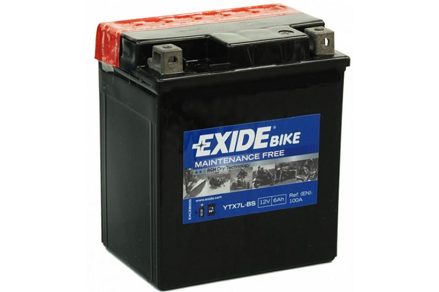 Аккумулятор Exide ETX7L-BS (6 А/ч) 100А R+