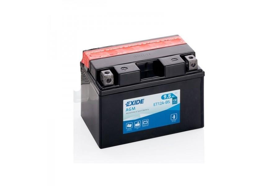 Аккумулятор Exide ET12A-BS (9,5 A/h), 130А L+
