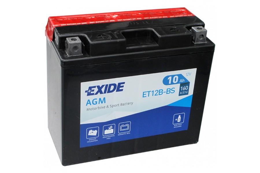 Аккумулятор Exide ET12B-BS (10 A/h), 160А L+