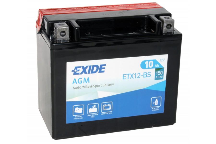 Аккумулятор Exide ETX12-BS (10 A/h), 150А R+