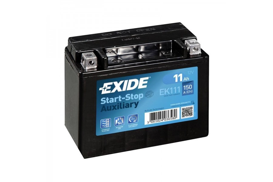 Аккумулятор Exide AGM Start-stop EK111 (11 A/h), 150А L+