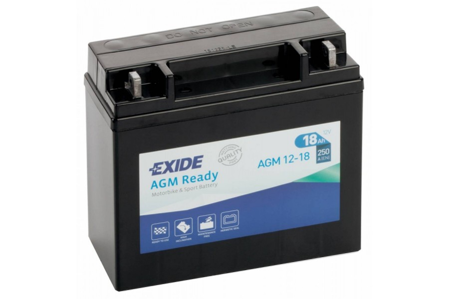 Аккумулятор Exide AGM12-18 (18 A/h), 250А R+