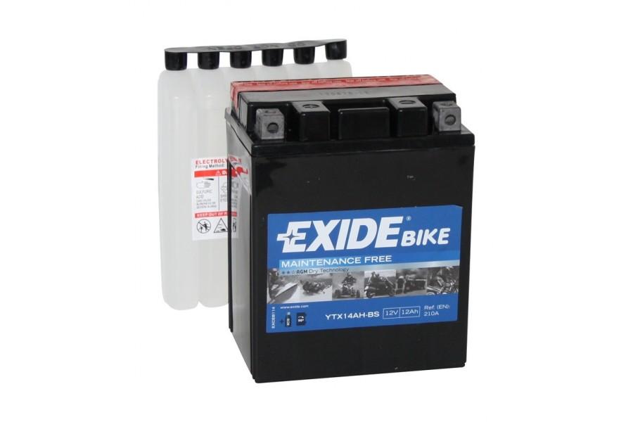 Аккумулятор Exide YTX14AH-BS (12 A/h), 210А L+