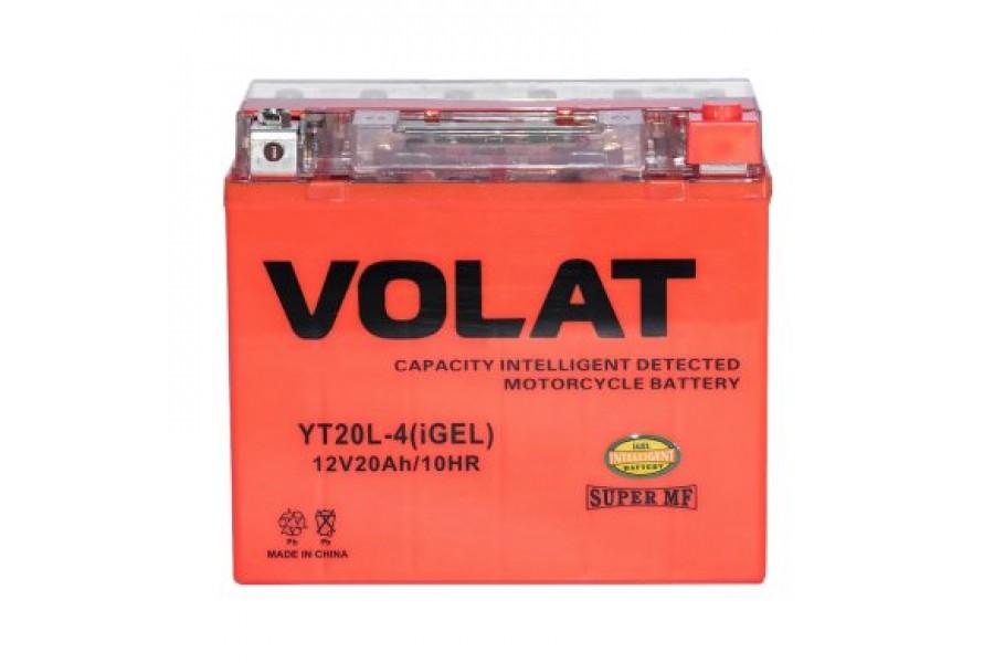 Аккумулятор VOLAT YT20L-4 (iGEL) 20 A/h 330A R+