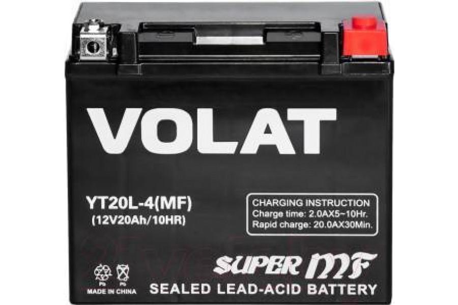 Аккумулятор VOLAT YT20L-4 AGM 20 A/h 330A R+