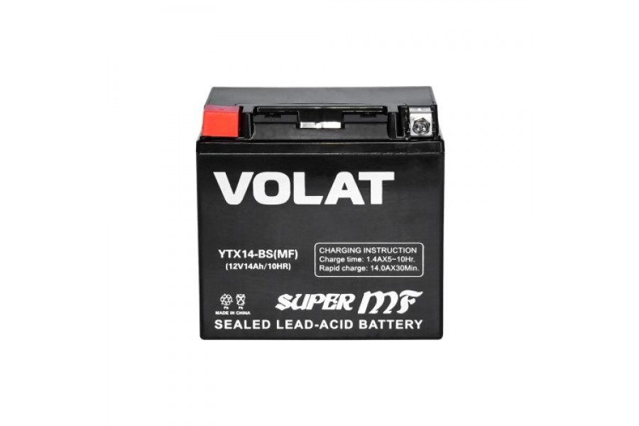 Аккумулятор VOLAT YTX14-BS AGM 14 A/h 200A L+