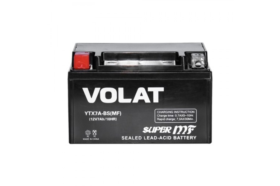 Аккумулятор VOLAT YTX7A-BS AGM 7 A/h 105A L+