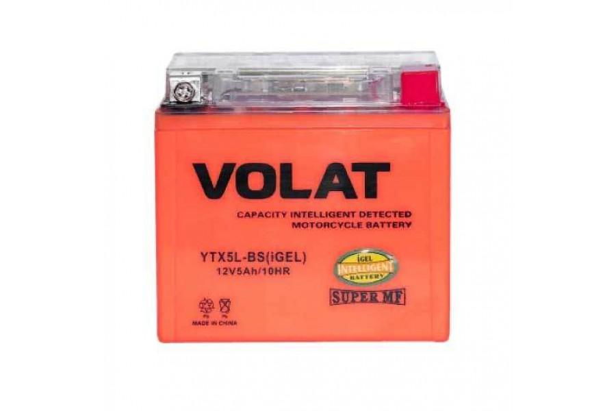 Аккумулятор VOLAT YTX5L-BS (iGEL) 5 A/h 80A R+