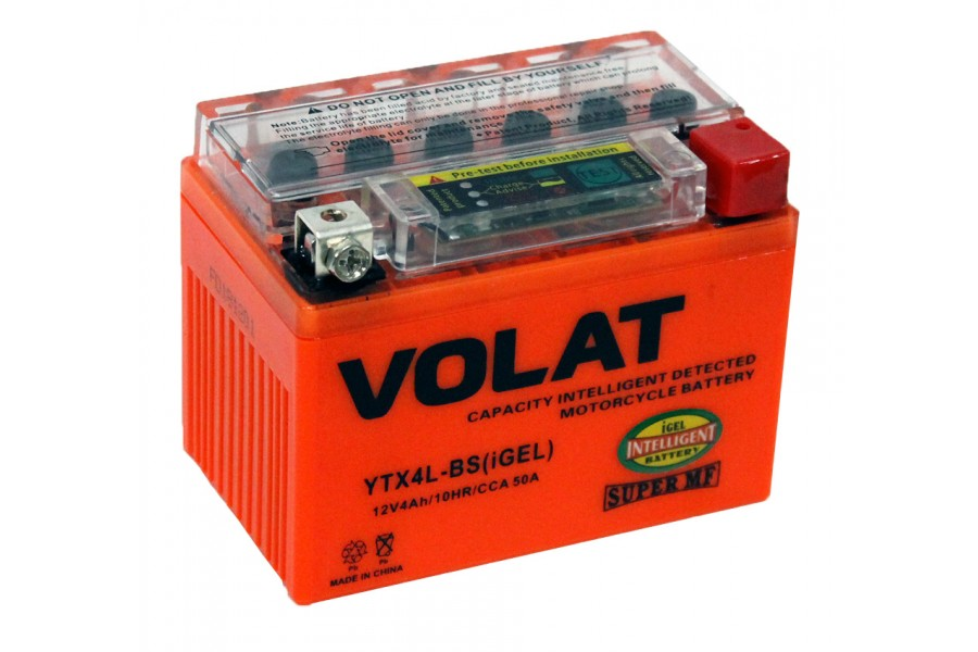 Аккумулятор VOLAT YTX4L-BS (iGEL) 4 A/h 50A R+