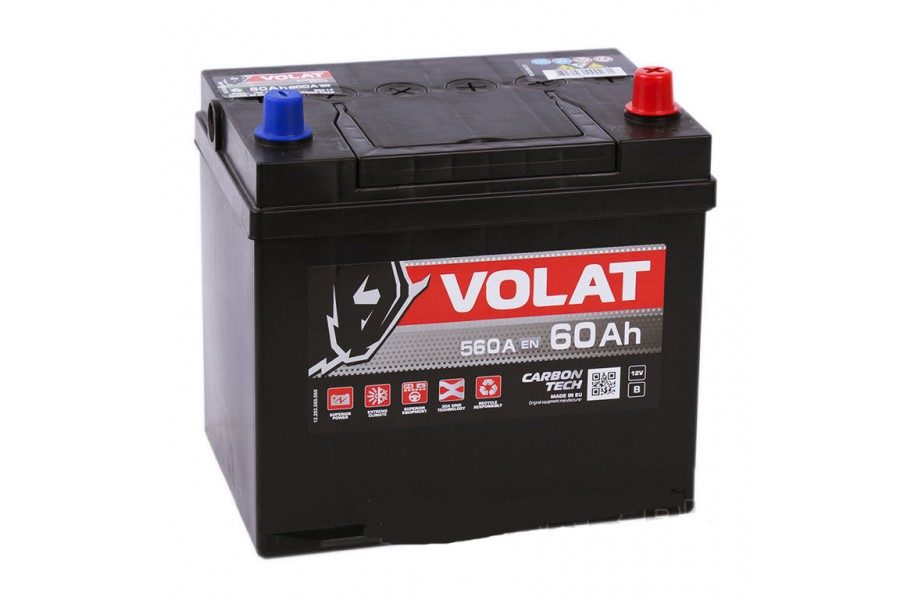 Аккумулятор VOLAT Ultra ASIA 60  A/h 560A R+